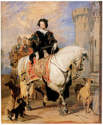 Victoria Paintings - Queen Victoria on Horseback by Sir Edwin Landseer