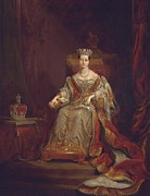 Crown Victoria Paintings - Queen Victoria by Sir George Hayter