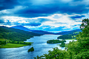 Scotland Prints Framed Prints - Queens View Loch Tummel Framed Print by Chris Thaxter