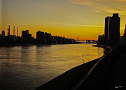 Landscapes Posters - Queensboro Bridge at Sunset - NYC Poster by Madeline Ellis