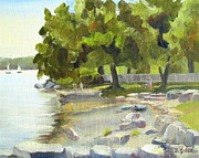 Niagara On The Lake Paintings - Queenss Royal Park - Niagara-On-The-Lake by Deb Grise