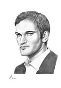 Movies Drawings Originals - Quentin Tarantino by Murphy Elliott
