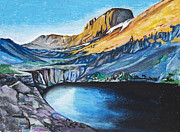 Willow Lake Metal Prints - Quick Sketch - Kit Carson Peak Metal Print by Aaron Spong