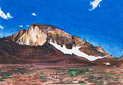 National Painting Posters - Quick Sketch - Longs Peak Poster by Aaron Spong