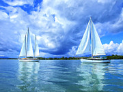 Dominic Piperata Metal Prints - Quiet Afternoon Sail Metal Print by Dominic Piperata