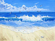 Randall Brewer Prints - Quiet Beach Print by Randall Brewer