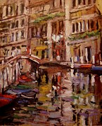 R W Goetting - Quiet canal in Venice