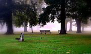 Park Benches Photos - Quiet by Carlie Hensley