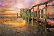 Pier Digital Art - Quiet Colors by Betsy A Cutler East Coast Barrier Islands