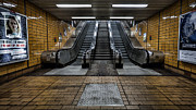Subway Metal Prints - Quiet day Metal Print by John Farnan
