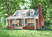 Brick Building Art - Quiet East Coast Summer Day Honey Look There Is A Rabbit by Irina Sztukowski