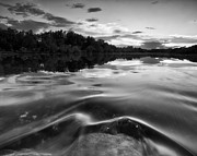 Wave Art - Quiet evening on river by Davorin Mance