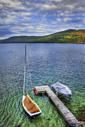 Adirondacks Photo Posters - Quiet Jetty Poster by Evelina Kremsdorf