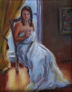 Gown Painting Originals - Quiet Moment by Martha Manco