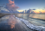 Atlantic Beaches Photo Posters - Quiet Morning Poster by Debra and Dave Vanderlaan