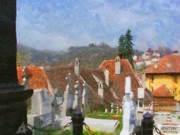 Cemetery Prints - Quiet Neighbors Print by Jeff Kolker