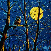 Christine Karron Metal Prints - Quiet Night Metal Print by Christine Karron
