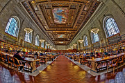 Rose Main Reading Room Prints - Quiet Room Print by Susan Candelario