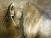 Equine Paintings - Quiet Strength by Jennifer Morrison Godshalk