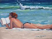 Topless Paintings - Quiet Time by Laura Lee Zanghetti