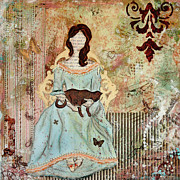For Mixed Media Originals - Quiet Time Victorian Folk Art by Janelle Nichol