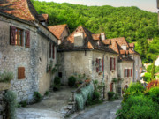 Cobblestone Prints - Quiet Village Life Print by Douglas J Fisher