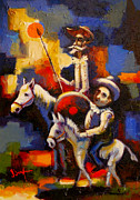 Raiders Paintings - Quijote y Sancho by David Silvah