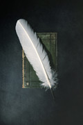 Ancient Letters Framed Prints - Quill And Book Framed Print by Joana Kruse