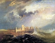 Romanticism Posters - Quillebeuf at the mouth of the Seine 1833 Poster by Joseph Mallord William Turner