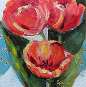 Suzy Pal Powell - Quilt and Tulips