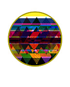 Geometric Shapes Posters - Quilt Inspired Abstract Poster by Ann Powell