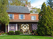Homemade Quilts Prints - Quilt Makers House Print by Jean Hall