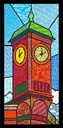 Quilted Clock Tower Print by Jim Harris
