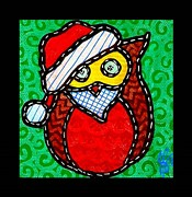 Santa Claus Originals - Quilted Santa Owl 2013 by Jim Harris