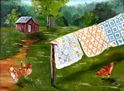 Quilts Photos - Quilts and Hens by Carol Berning