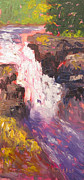 Waterfalls Paintings - Quin Rose Falls by Kristos Raftopoulos