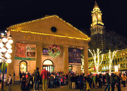 Quincy Market Photos - Quincy and the Clock Tower by Joann Vitali