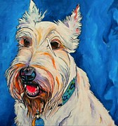 White Dog Prints - Quincy Print by Patti Schermerhorn