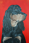 Gordon Setter Posters - Quincy Poster by Tracy Cass