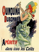 Paris Cafe Prints - Quinquina Dubonnet Aperitif Print by Sanely Great