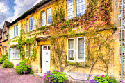 Charming Cottage Digital Art Prints - Quintessential English Village Cottage - Lacock Print by Mark E Tisdale