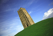 The Crusades Framed Prints - Quirky angle of Glastonbury Tor Framed Print by Deborah Benbrook