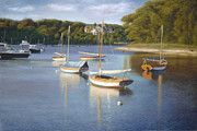 Cape Cod Paintings - Quissett Harbor Blue by OMalley Keyes