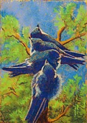 Birds Pastels Prints - Quit Pushing Print by Tracy L Teeter