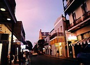 Urban Scenes Digital Art Prints - Quite Early Evening on Bourbon Street Print by John Malone