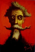 Don Quijote Paintings - Quixote Viejo by David Silvah