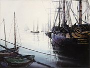 Old Sailing Ship Paintings - Quo Vadis  by Johan Gorter
