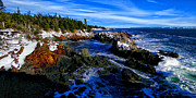 Down East Maine Prints - Quoddy Coast with Snow Print by ABeautifulSky  Photography