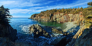 Brown Tones Posters - Quoddy Head Cove Poster by ABeautifulSky  Photography