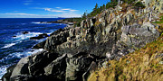 Manipulation Framed Prints - Quoddy Head Ledge Framed Print by ABeautifulSky  Photography